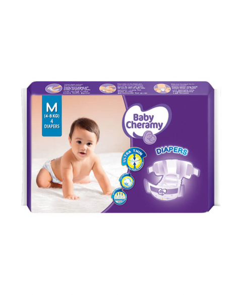 Baby Cheramy Diapers Medium 4'S